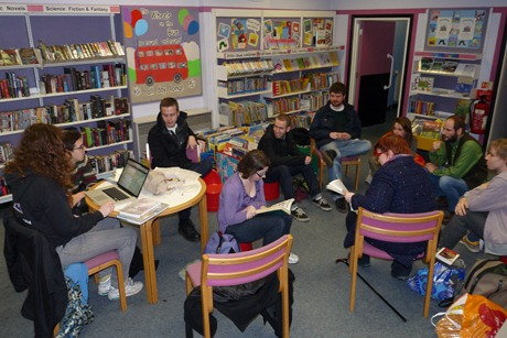 New Cross library occupation, 5 Feb 2011, 18.45