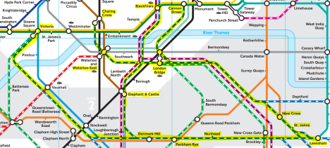 Lewisham's central London rail network from January 2015